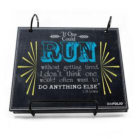 BibFOLIO® Race Bib Album - If One Could Run Without Getting Tired Chalkboard