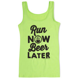 Women's Athletic Tank Top Run Club Run Now Beer Later
