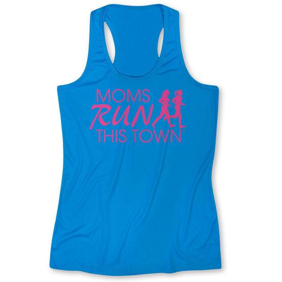 Women's Performance Singlet - Moms Run This Town Logo (Pink)