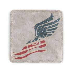 Running Stone Coaster USA Winged Foot