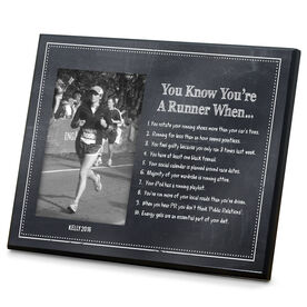Running Photo Frame Chalkboard You Know You're A Runner When