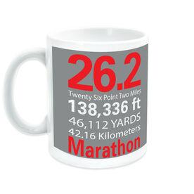 Running Ceramic Mug Marathon  26.2 Math Miles