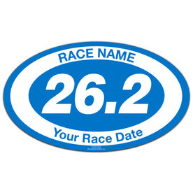 Custom Race 26.2 Oval Car Magnet