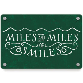 Running Metal Wall Art Panel - Miles and Miles of Smiles