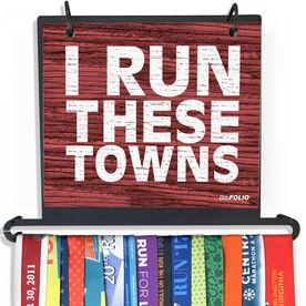 BibFOLIO Plus Race Bib and Medal Display - Run These Towns Rustic
