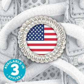 Shoe Lace Charm American Flag