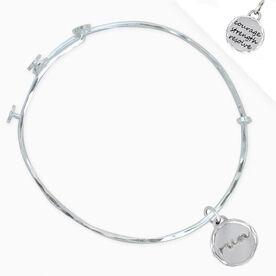 Livia Collection Sterling Silver Run Token Adjustable Bangle