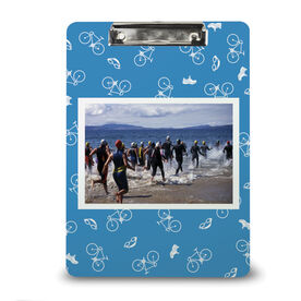 Triathlon Custom Clipboard Triathlon Your Photo