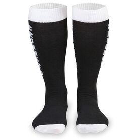 Woven Yakety Yak! Knee High Socks - Runnerd (Black/White)