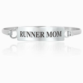Running Engraved Clasp Bracelet - Mom (Text)