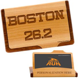 Boston 26.2 Maple Business Card/Credit Card Holder