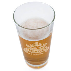 20 oz Beer Pint Glass Steamboat Marathon Artwork 2014