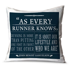 Running Throw Pillow Vintage As Every Runner Knows