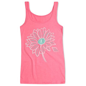 Women's Athletic Tank Top Inspiration Flower