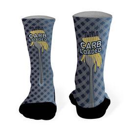 Running Printed Mid Calf Socks Carb Loaded