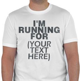Men's Running Customized Short Sleeve Tech Tee I'm Running For (Text)
