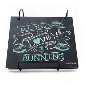 BibFOLIO® Race Bib Album - All You Need is Love and Running Chalkboard
