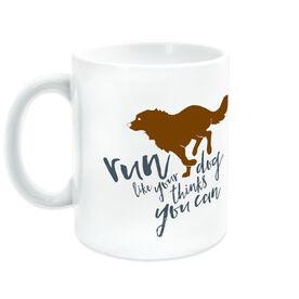 Running Ceramic Mug Run Like Your Dog Thinks You Can