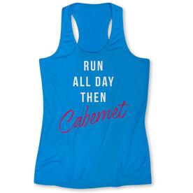 Women's Performance Singlet - Run all Day Then Cabernet