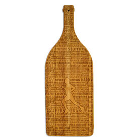 Wine Bottle Laser Engraved Bamboo Cutting Board Male Inspiration