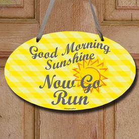 Good Morning Sunshine Decorative Oval Sign