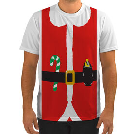 Men's Running Customized Short Sleeve Tech Tee Runner Santa
