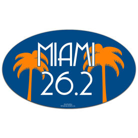 Miami 26.2 Oval Car Magnet