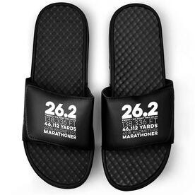 Running Black Slide Sandals - 26.2 Math Miles