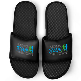 Running Black Slide Sandals - Moms Run This Town