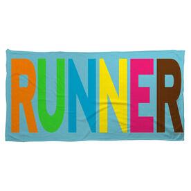 Running Beach Towel Runner Colorful