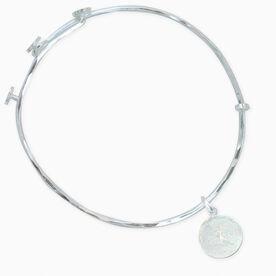 Livia Collection Sterling Silver Matte Runner Girl Adjustable Bangle