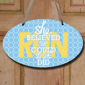 She Believed She Could So She Did Decorative Oval Sign