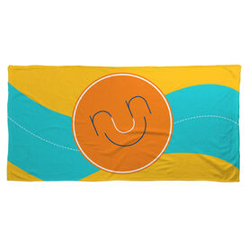 Running Beach Towel Run & Be Happy