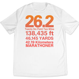 Men's Running Customized Short Sleeve Tech Tee 26.2 Math Miles