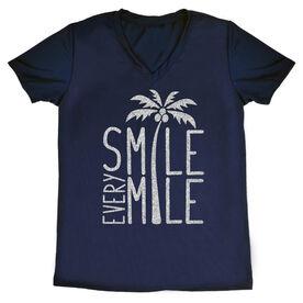 Women's Running Short Sleeve Tech Tee Smile Every Mile