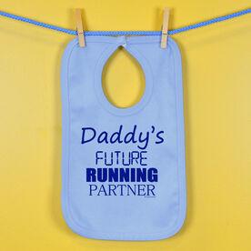 Daddy's Future Running Partner Baby Bib
