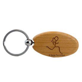 Run Girl Figure Maple Key Chain