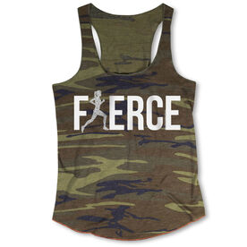 Running Camouflage Racerback Tank Top - Fierce