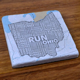 Ohio State Runner Stone Coaster