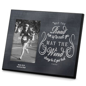 Running Photo Frame Chalkboard May The Road Rise Up