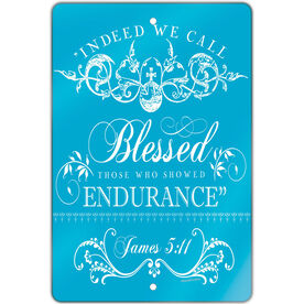 """Running 18"""" X 12"""" Aluminum Room Sign Indeed We Call Blessed"""