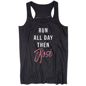 Flowy Racerback Tank Top - Run-All-Day-Then-Rosé