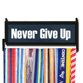 RunnersWALL Never Give Up Medal Display