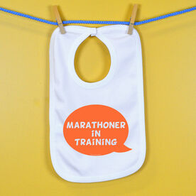 Marathoner in Training Baby Bib