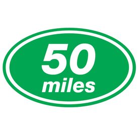 50 Miles Oval Running Vinyl Decal