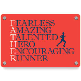 Running Metal Wall Art Panel - Father Words