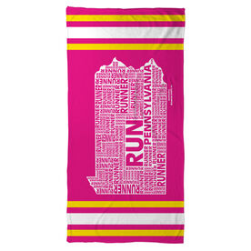 Running Beach Towel Pennsylvania State Runner