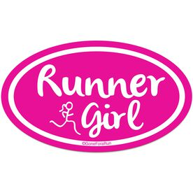 Runner Girl Car Magnet - Pink