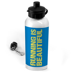 20 oz. Stainless Steel Water Bottle Running Is Beautiful