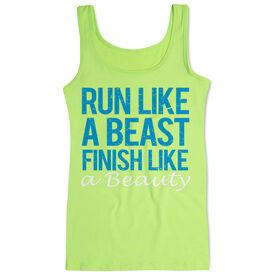 Women's Athletic Tank Top Run Like a Beast Finish Like a Beauty (Bold)